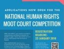 Se anunță lansarea concursului național de procese de judecată simulate în domeniul drepturilor omului