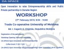 "Workshop cu genericul ""Open Innovation and Entrepreneurship"""
